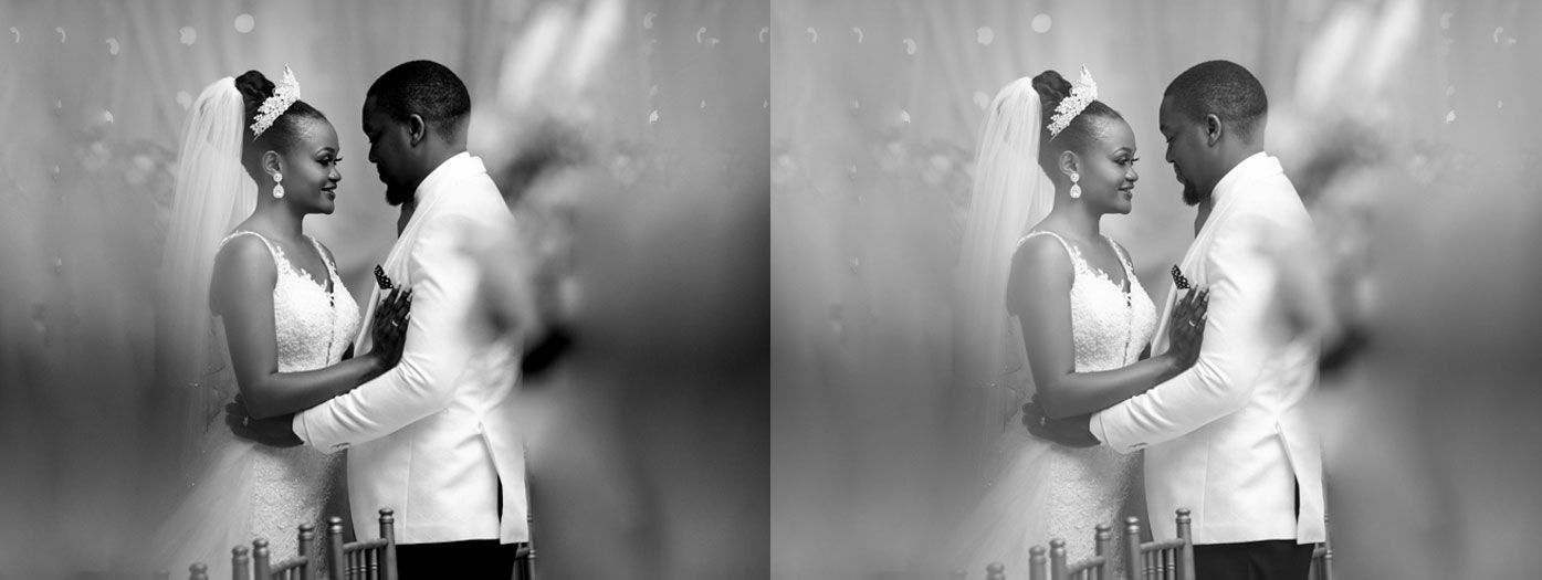 Black and White Wedding Photo editing