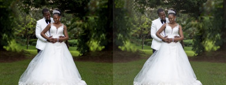 Outdoor Wedding Photo editing