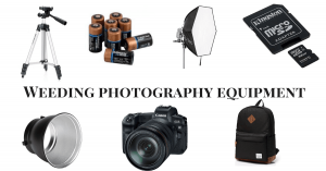 Weeding photography equipment