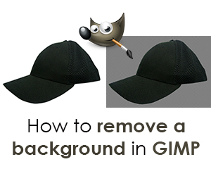 how to remove a background in gimp