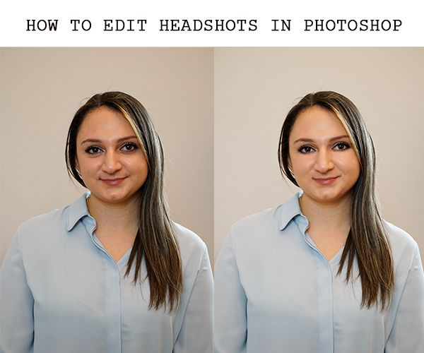 how to retouch headshots in photoshop