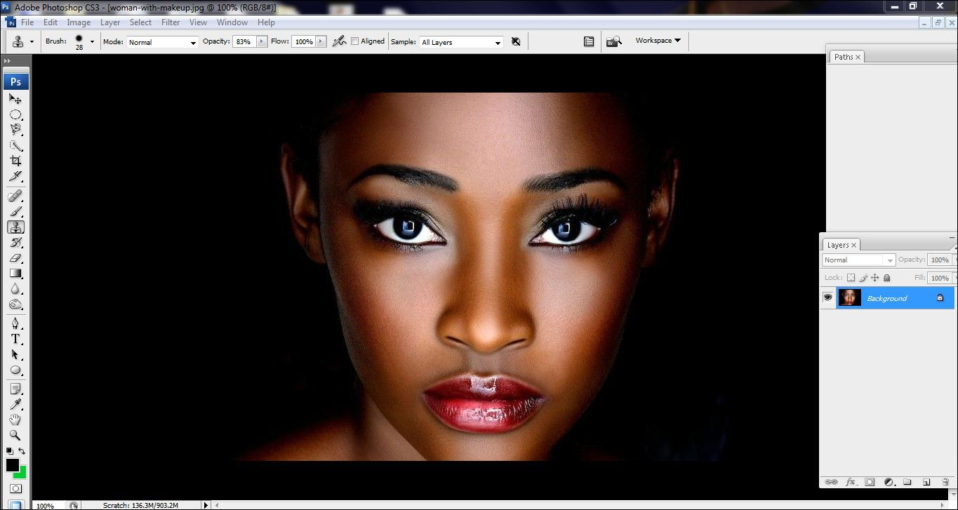 How to lighten skin in Photoshop Step 1