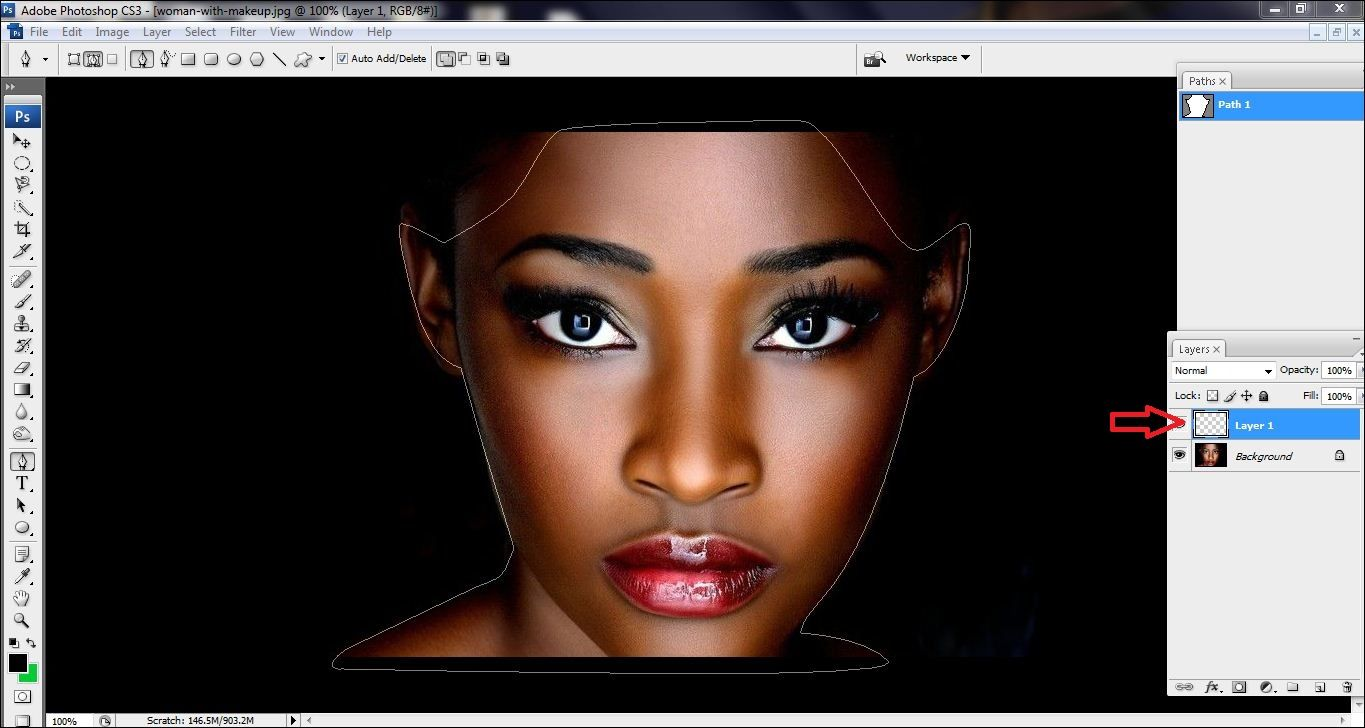 How to lighten skin in Photoshop Step 4