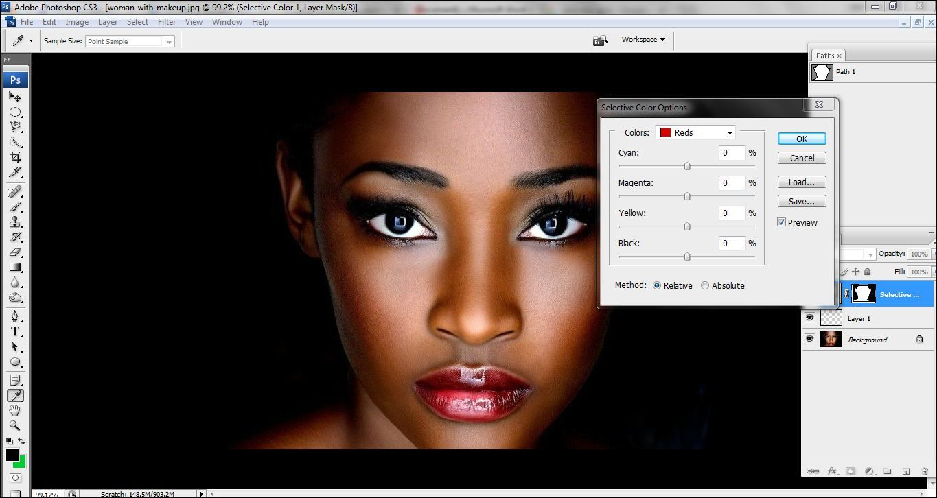 How to lighten skin in Photoshop Step 6