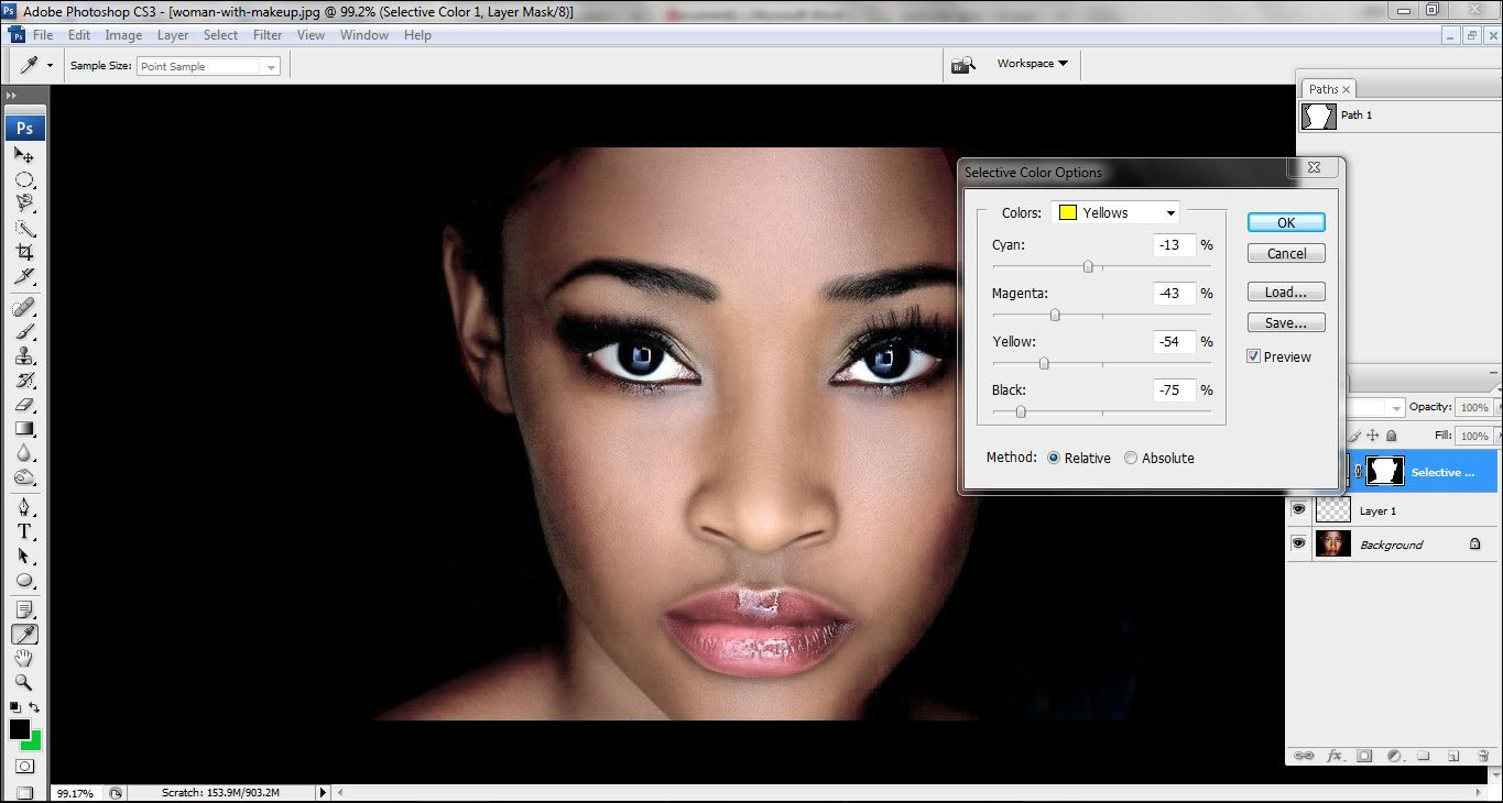 How to lighten skin in Photoshop Step 7.2