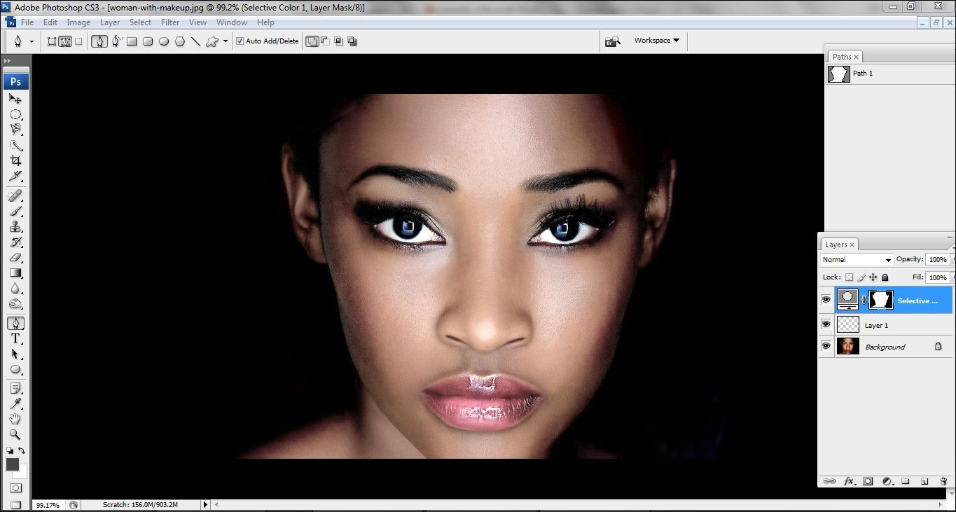 How to lighten skin in Photoshop Step 9