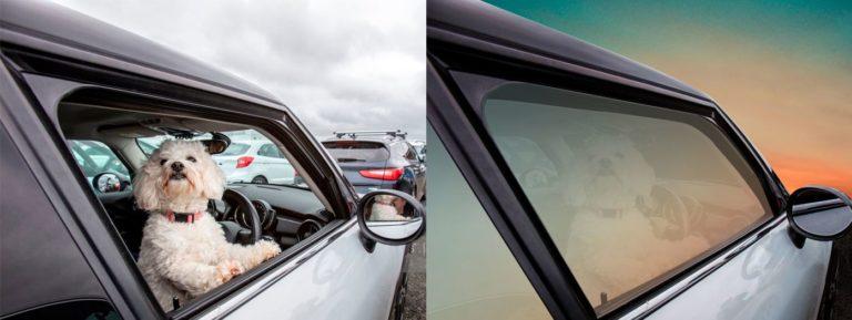 Car photo retouching