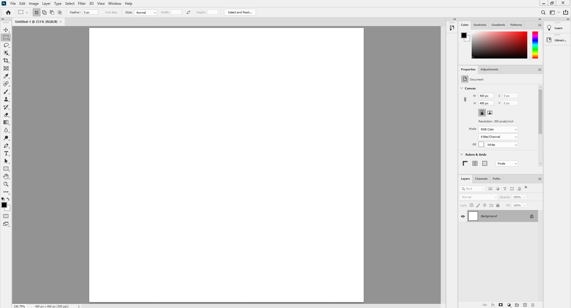 Opening blank document - Fix the retouch