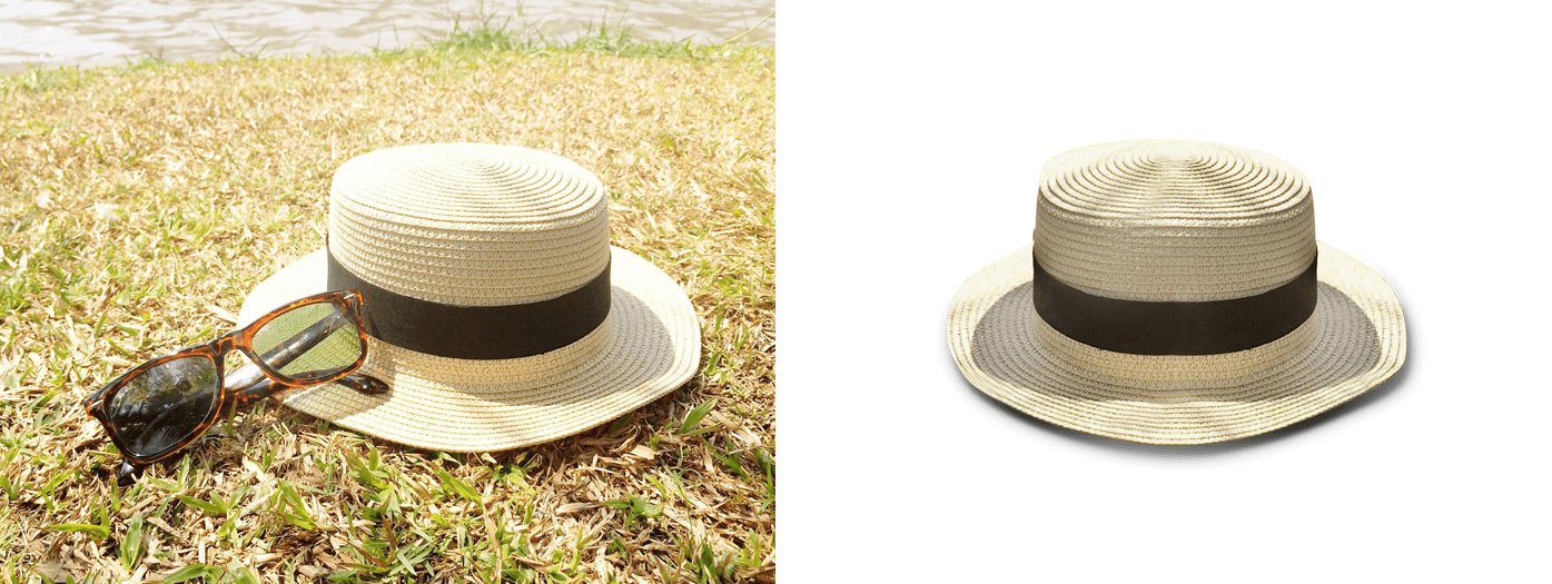 Panama hats image editing for you
