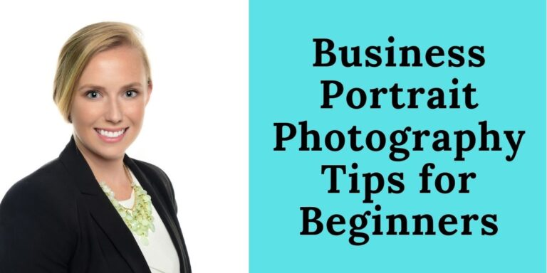 Business Portrait photography tips for beginners