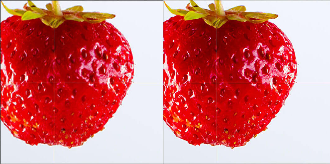 Step 5 photoshop image enlargement comparison