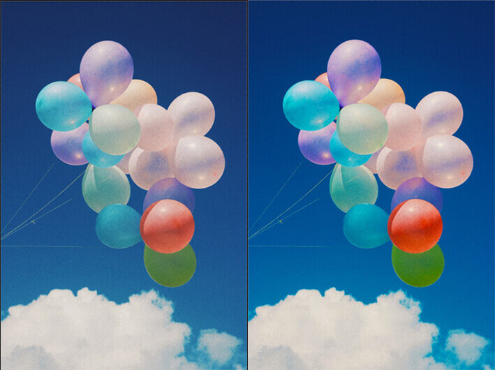 step 13 photoshop color correction before and after