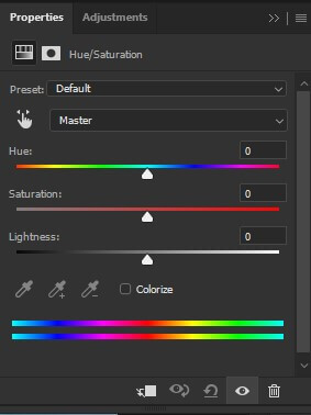 step 14 hue and saturation slider
