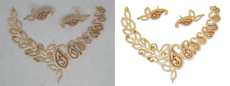 Adjusting jewelry photo Brightness and Contrast